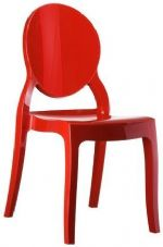 Thermo Plastic Elizabeth Stacking Chair - Red
